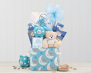 Adorable Boy Baby Gift Basket