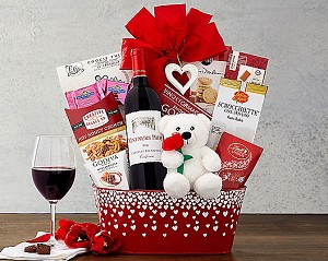 All My Love Cabernet  Valentine Wine Gift Basket