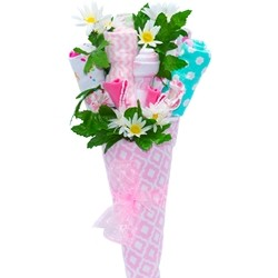 Deluxe Baby Blooms Baby Clothes Bouquet Baby Gift- Girl