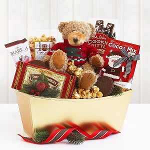 Beary Happy Holidays Chocolate Gift Basket