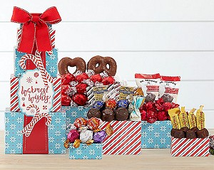 Best Holiday Wishes Chocolate Gift Tower