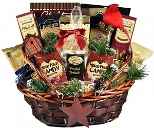 Deluxe Bountiful Gourmet Holiday Gift Basket