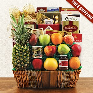 Carnival of Fruits and Cookies: Deluxe Fruit Gift Basket