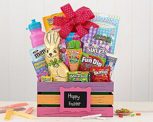 Children Happy Easter Morning Gift Basket