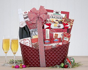 Classic California Champagne & Gourmet Gift Basket