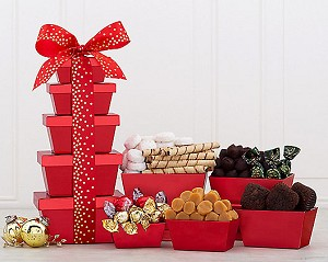 Cookie Chocolate and Brownie Gift Tower