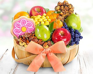 Deluxe Sweets & Fruit Gift Basket
