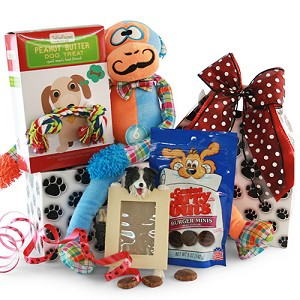 Dog Lover Pet Gift Basket