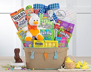 Kids Easter Chocolate Bunny Gift Basket