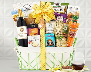 Easter Celebration.Wine Gift Basket