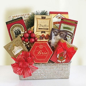 Festive Holiday Feast Gourmet Gift Basket