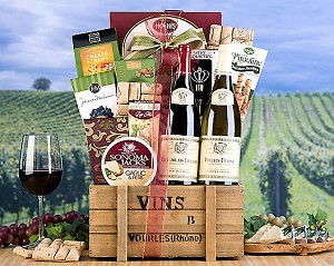 Fine French Wine Duet Gift Basket