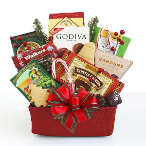 Festive Fun and Cheer Seasons Snacking Gift Basket