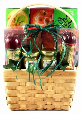 Gourmet Sausage Meat & Cheese Gift Basket
