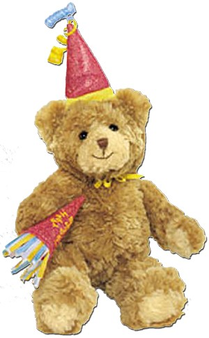 Gund Confetti Happy Birthday Teddy Bear