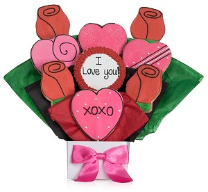 Hearts Cookie Blooms Bouquet