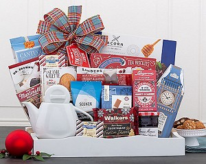 Holiday Tea Delight Breakfast Gift Basket