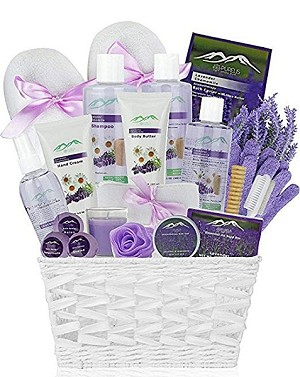 Lavender & Chamomile Deluxe Spa Bliss In A Basket