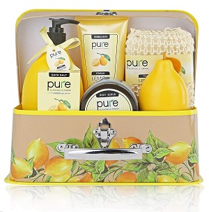 Lemon Essentials Deluxe Natural Spa Gift Basket