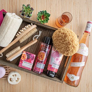 Luxury Spa and Wine Gift Basket