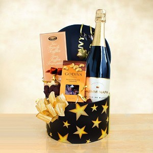 Mumms Napa Wine and Truffle Chocolate Star Gift