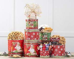 Nostalgic Santa's  Holiday Tin Tower
