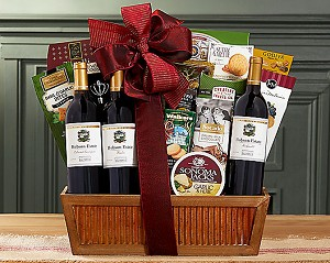 Red Wine Trio Gift Basket
