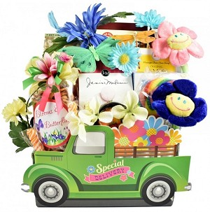 Special Delivery For Women  Designer Flower Cart Truck