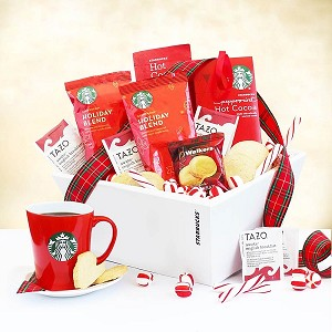 Santa's Starbucks Christmas Holiday Gift Basket