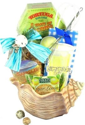 Tropical Island Treats: Tropical Gift Basket
