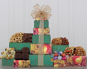 Cheerful Truffles, Nuts and More Gift Tower
