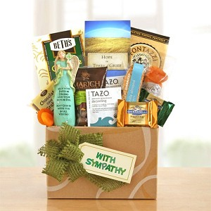 With Sympathy: Thoughts & Prayers. Gift Basket