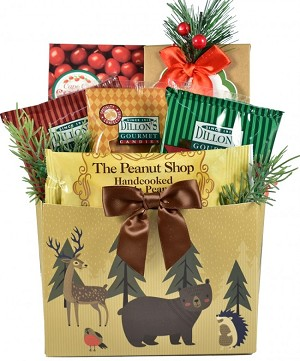 Holiday Wonders Rustic Holiday Gift Basket