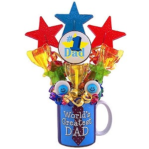 World Greatest Dad: Fathers Day Candy Bouquet